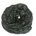 Ażurowy damski szalik komin - czarny melanż