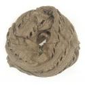 Ażurowy damski szalik komin - beżowy melanż
