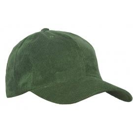 Sztruksowa czapka z daszkiem – butelkowy zielony