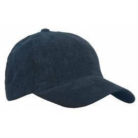 Sztruksowa czapka z daszkiem – granatowy