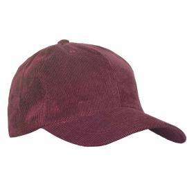 Sztruksowa czapka z daszkiem – bordowa