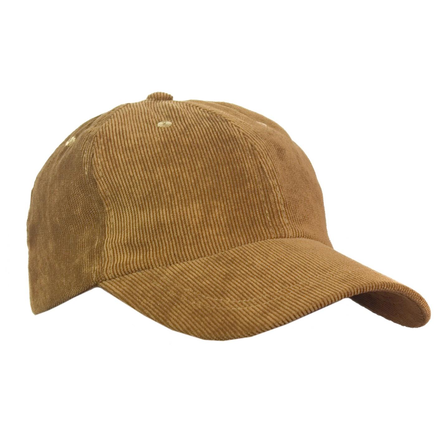 Sztruksowa czapka z daszkiem – beżowa camel