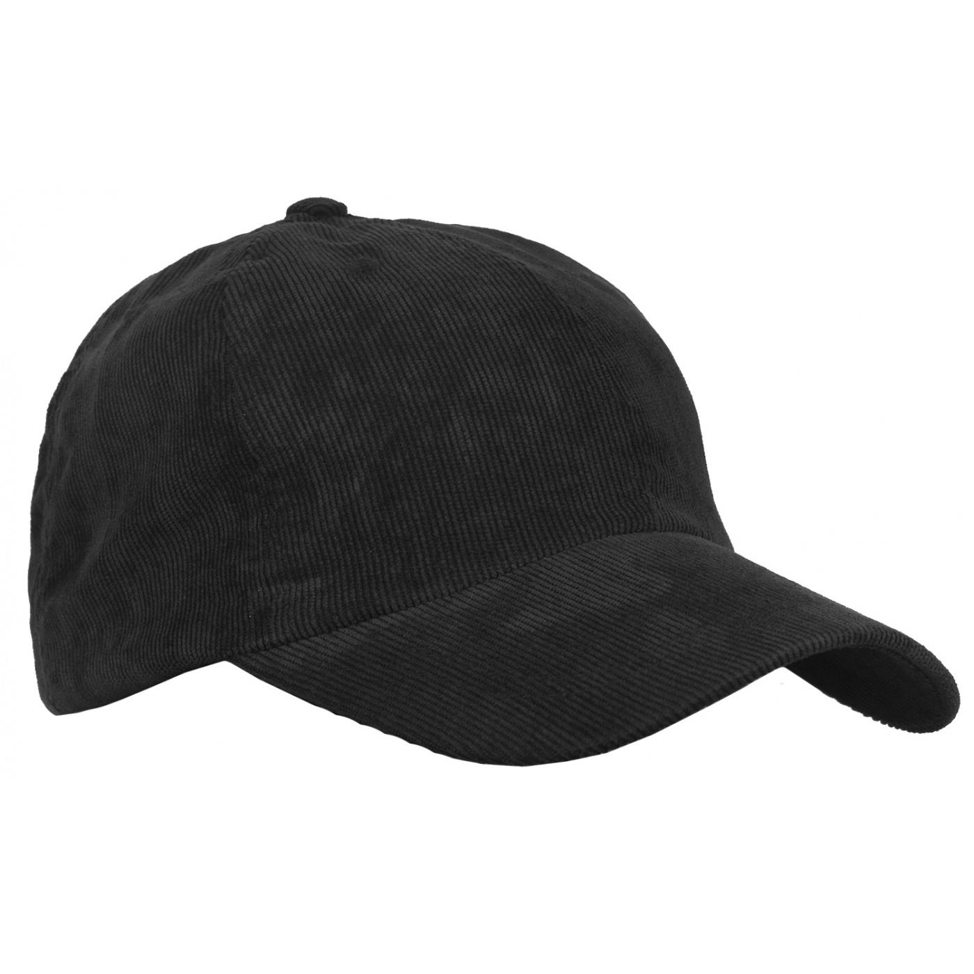 Sztruksowa czapka z daszkiem – czarna