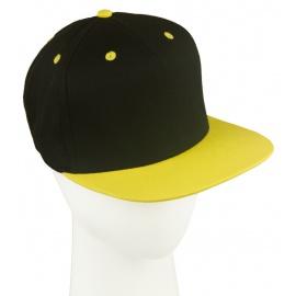 Czapka fullcap dwukolorowa – czarny/żółty