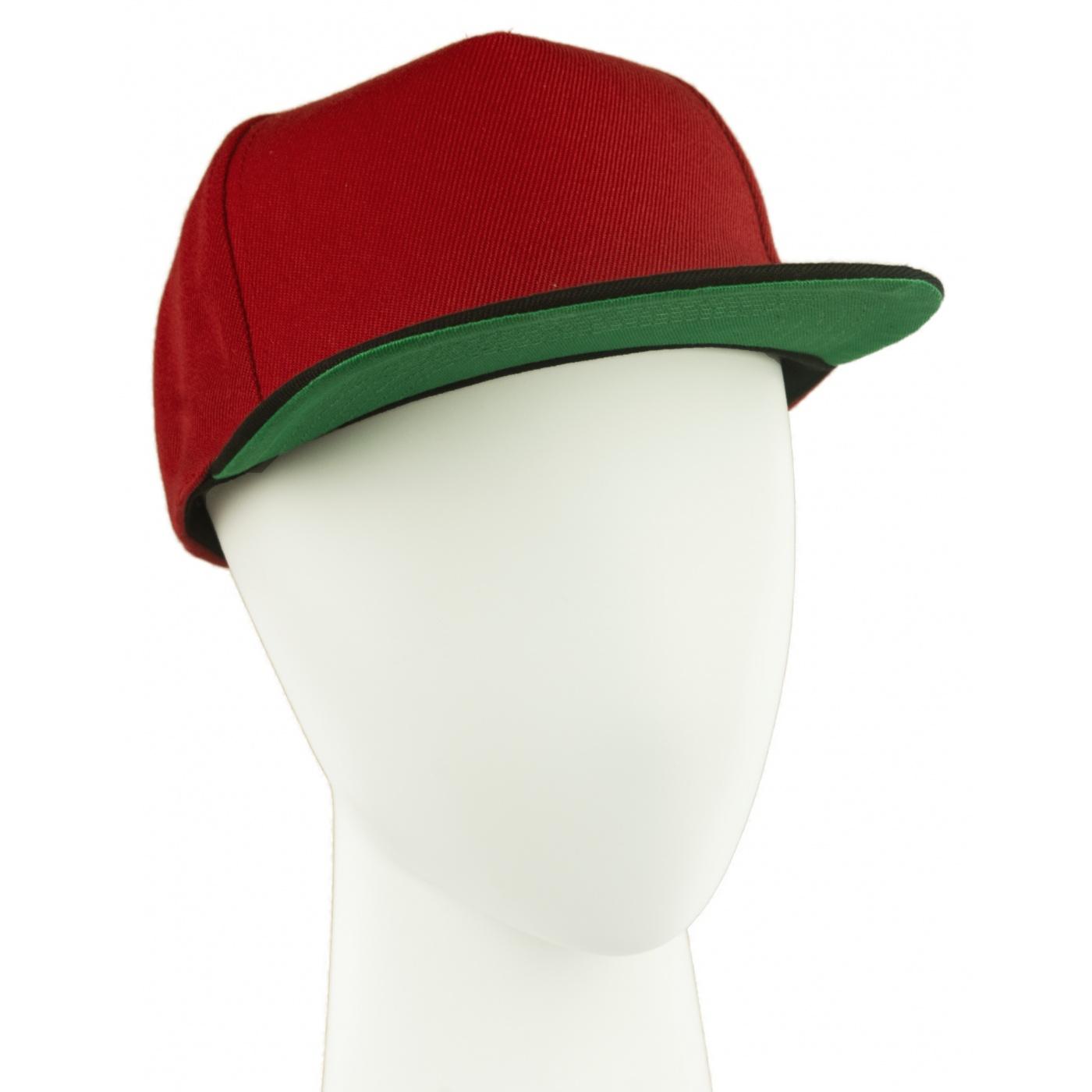 Czapka fullcap trzykolorowa – czerwny/czarny/zielony
