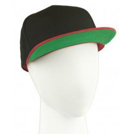 Czapka fullcap trzykolorowa – czarny/czerwony/zielony