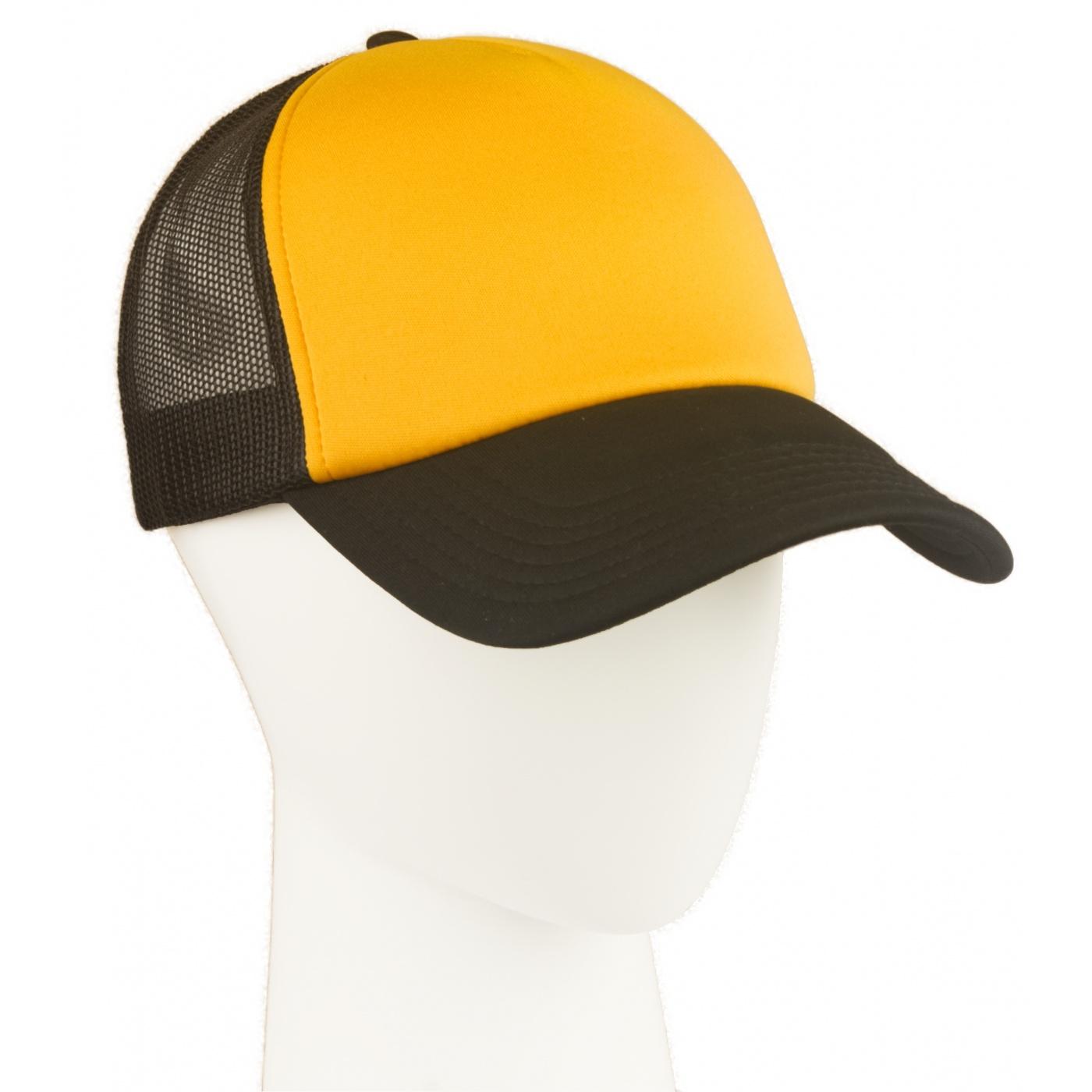 Czapka z siatką truckerka – żółty/czarny