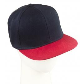 Czapka fullcap dwukolorowa – czarny/czerwony