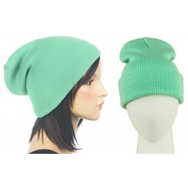 Czapka damska bezszwowa beanie 3w1 Janet - miętowa zielona