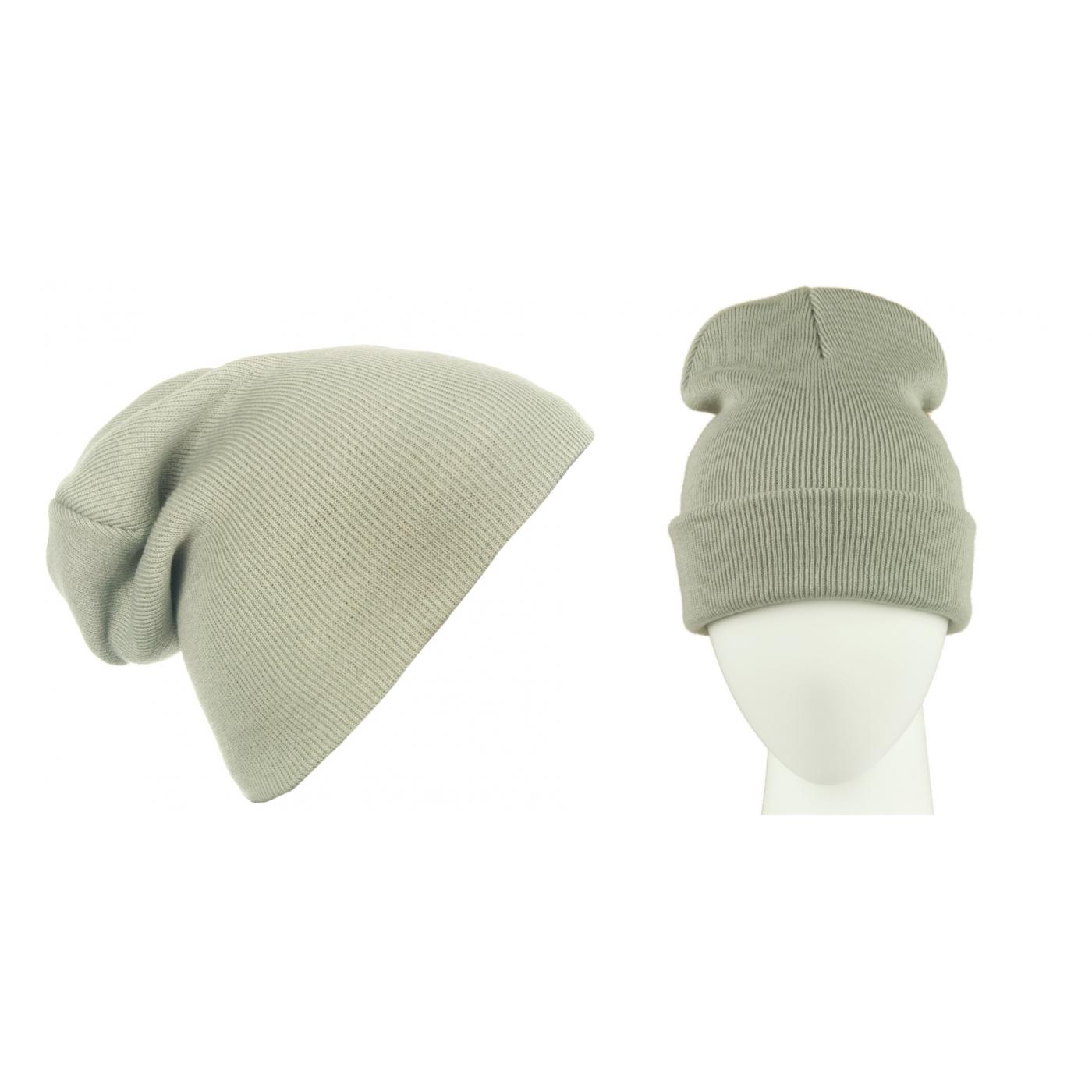 Męska czapka zimowa krasnal 3w1 - jasnoszara