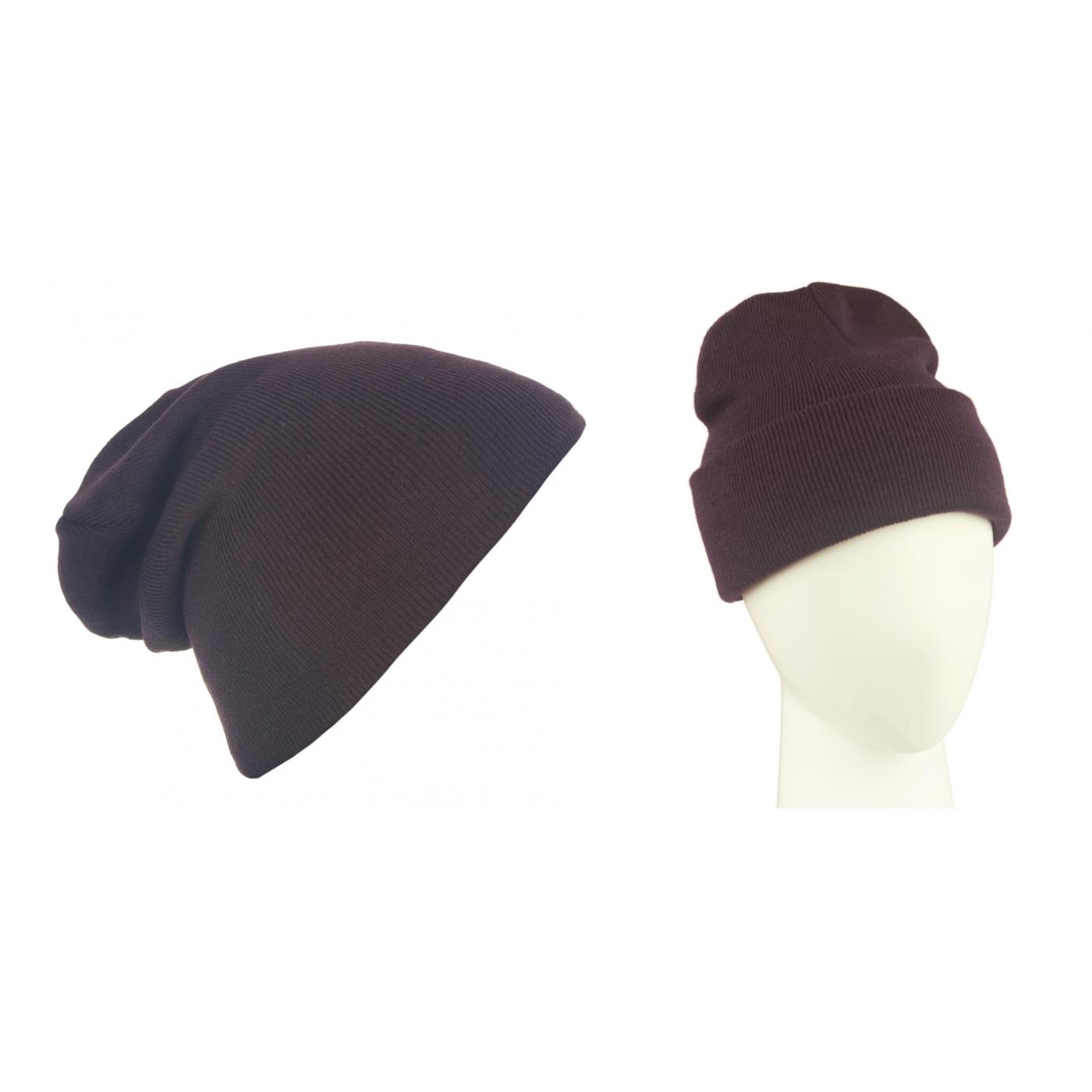 Męska czapka zimowa krasnal 3w1 - fioletowa