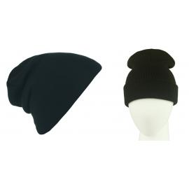 Męska czapka bezszwowa beanie 3w1 Jerry - czarna