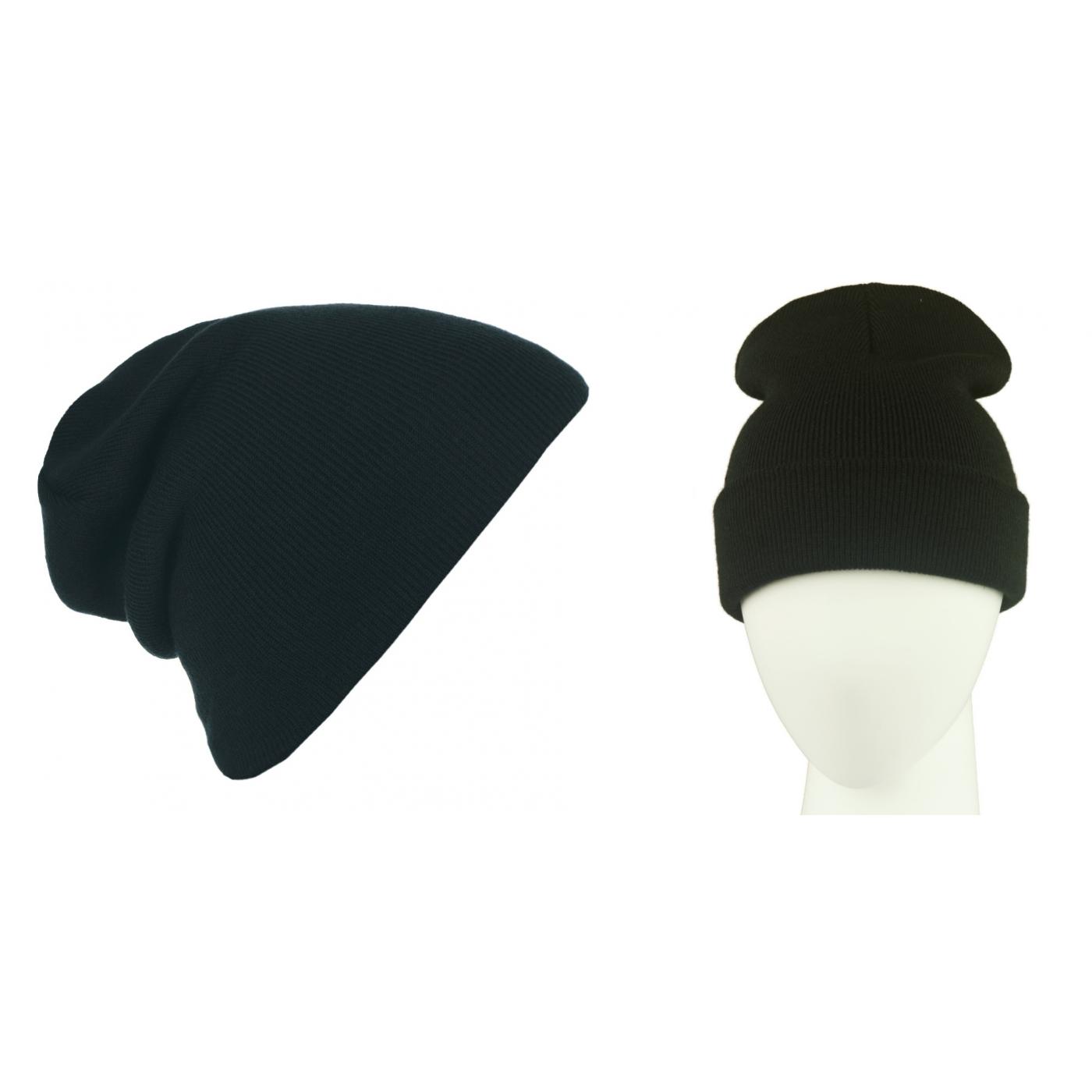 Męska czapka zimowa krasnal 3w1 - czarna