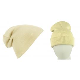 Męska czapka zimowa krasnal 3w1 - piaskowy beżowy