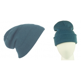 Męska czapka bezszwowa beanie 3w1 Jerry - szaroniebieska