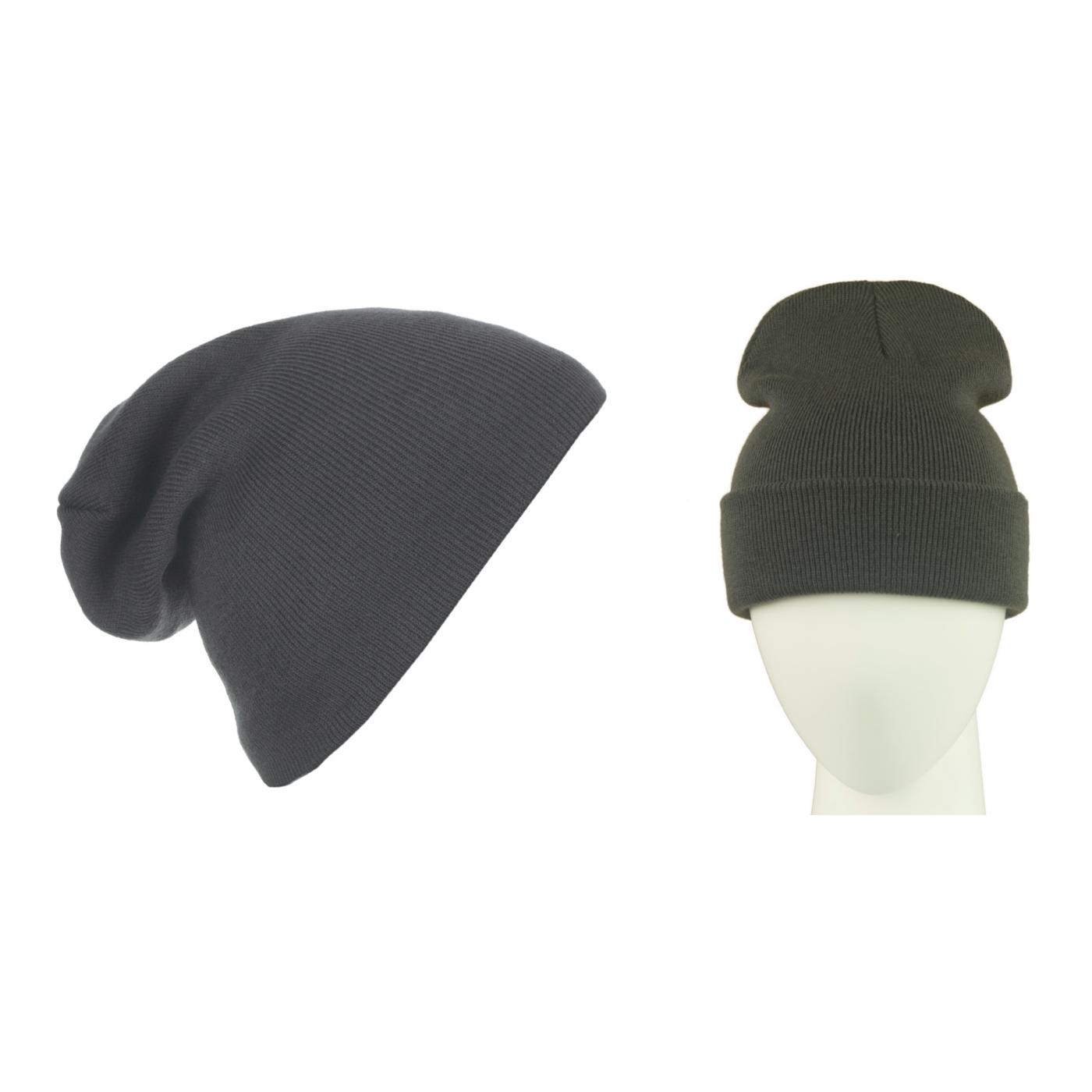Męska czapka zimowa krasnal 3w1 - grafitowa
