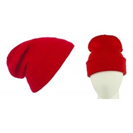 Męska czapka zimowa krasnal 3w1 - czerwona