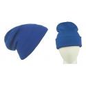 Męska czapka bezszwowa beanie 3w1 Jerry - niebieska