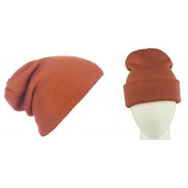 Męska czapka bezszwowa beanie 3w1 Jerry - rdzawa ruda