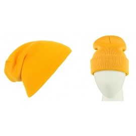 Męska czapka zimowa krasnal 3w1 - miodowa