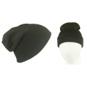 Męska czapka bezszwowa beanie 3w1 Jerry - ciemny szary melanż