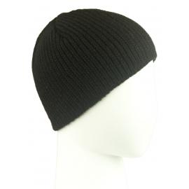 Męska czapka zimowa 50% wełny Tadek – czarna w prążki