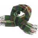 Duży szal w kratę Sheryl - zielony z akcentami