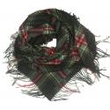 Duża chusta szal w kratę Elisa - czarny/czerwony/zielony/żółty (rozmiar XL)