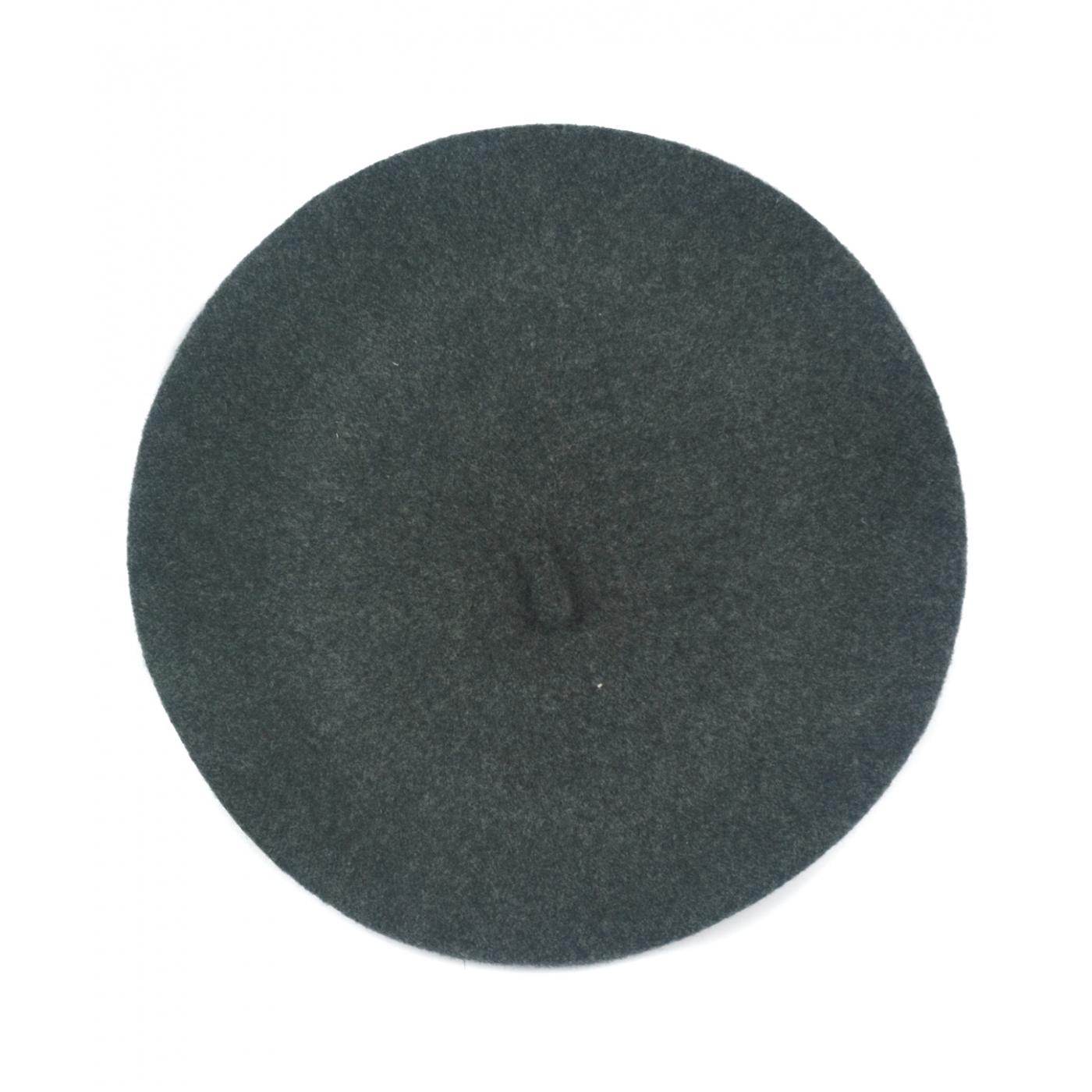 Klasyczny damski beret wełniany – grafitowy