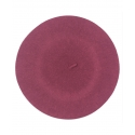 Klasyczny damski beret wełniany – fuksja różowy