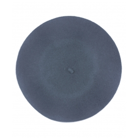 Klasyczny damski beret wełniany – jeansowy niebieski