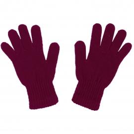 Damskie rękawiczki zimowe : burgund bordo