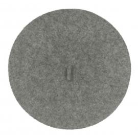 Klasyczny damski beret wełniany – szary melanż
