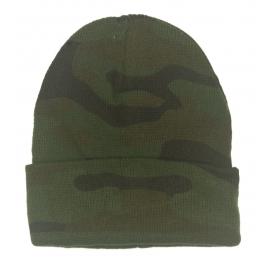 Męska czapka beanie 3w1 Jerry - zielone moro