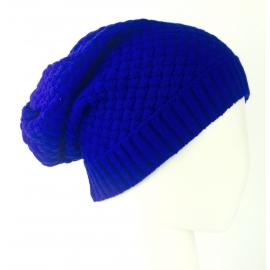 Czapka damska krasnal - intensywnie niebieska