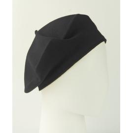 Damski dzianinowy beret Polka – czarny