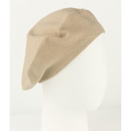 Damski dzianinowy beret Polka – beżowy