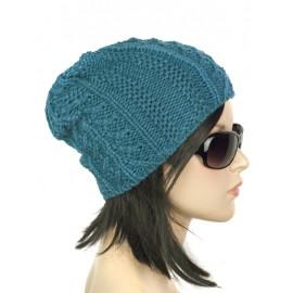 Damska czapka zimowa Opra - zielona morska