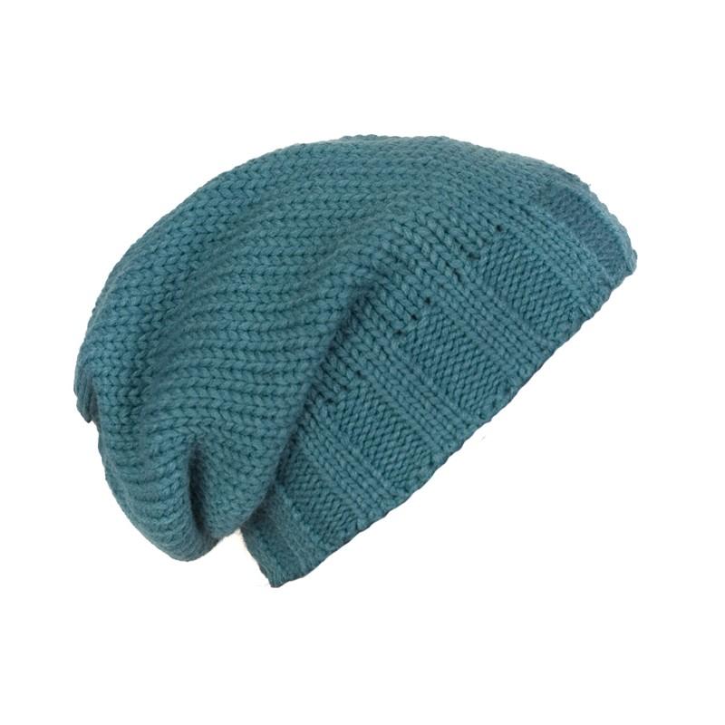 Męska czapka zimowa krasnal Ed – morska zielona