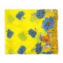 Szalik komin w kwiaty – żółty
