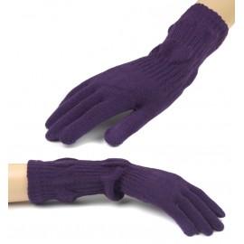 Damskie długie rękawiczki - fioletowe