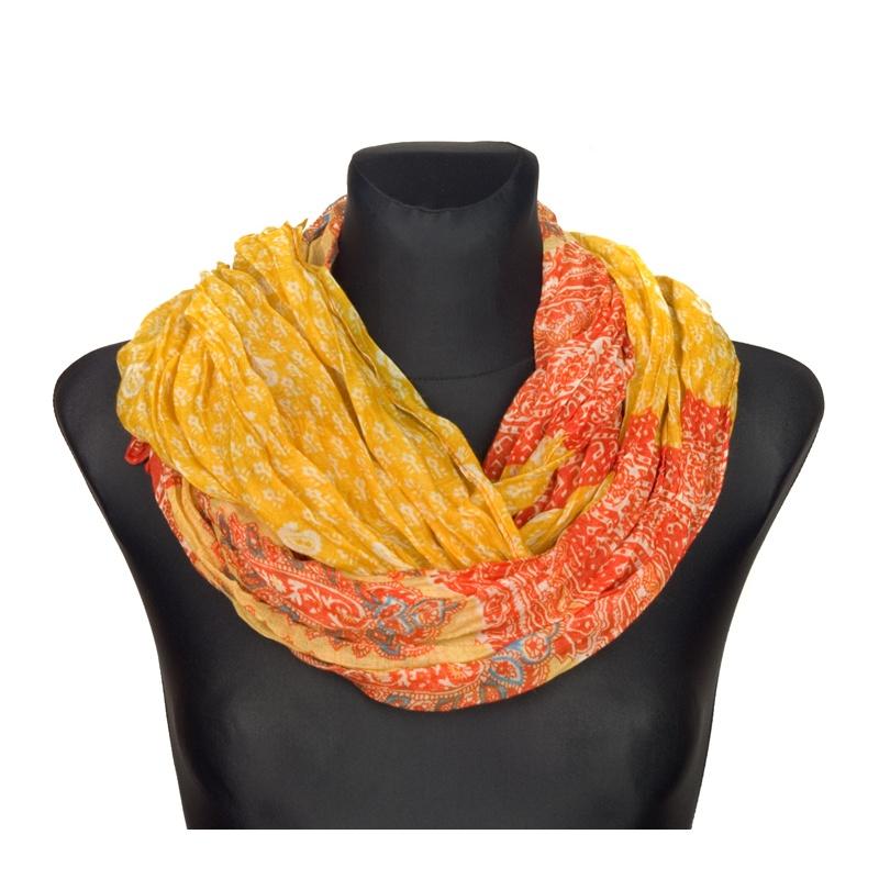 Apaszka wzorzysta – żółty z oranżem