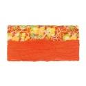 Szalik komin w kwiaty – oranż z żółtym