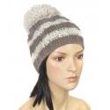 Modna czapka zimowa z dużym pomponem (13)