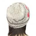 Ciepła damska czapka zimowa krasnal z pomponem: 1b