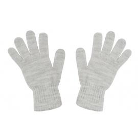 Damskie rękawiczki zimowe: popielate