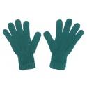Damskie rękawiczki zimowe : morskie zielone