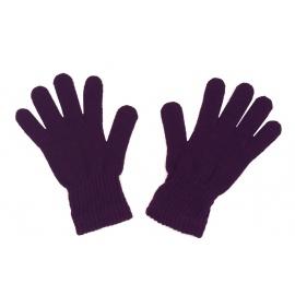 Damskie rękawiczki zimowe : śliwkowe fioletowe