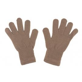 Damskie rękawiczki zimowe : cappuccino beżowe
