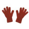 Damskie rękawiczki zimowe : rude pomarańczowe